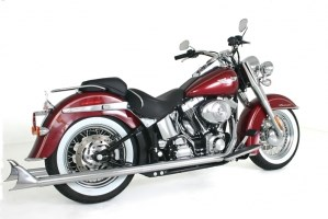 "Mufflers 4 Less >> Samson True Duals Exhaust With 33"" Longtail Mufflers - Harley Davidson Softail (07-11)"