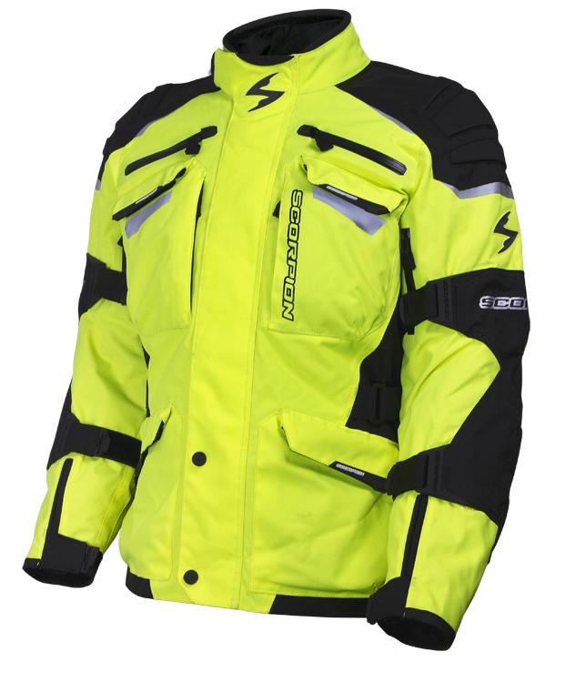 Scorpion Commander Ii Hi Viz Motorcycle Jacket Neon