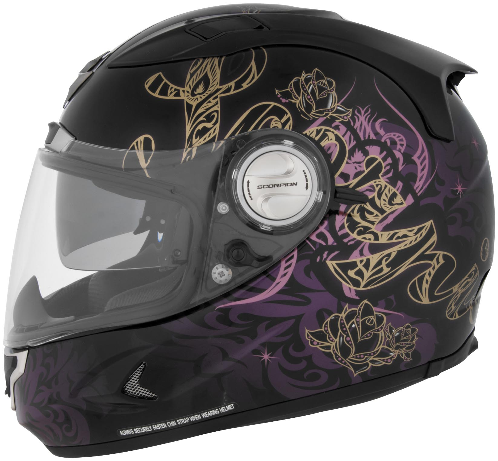 Scorpion Exo 1100 Preciosa Full Face Helmet Black Pink