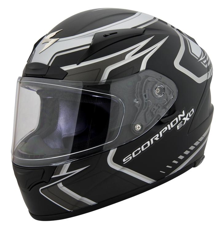 Scorpion exo r2000 circuit full face motorcycle helmet matte black