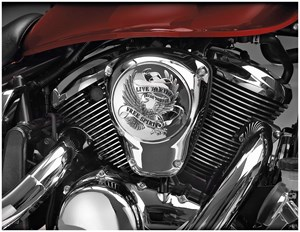 Show Chrome Air Cleaner Cover - Kawasaki Vulcan VN900 (06-10)