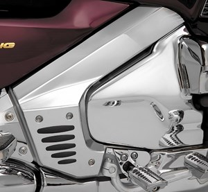 Show Chrome - Chrome Frame Cover with Rubber Inserts Honda GL1800 Gold Wing (01-08)