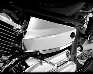 Show Chrome Side Covers - Yamaha V-Star 1100 Classic (99-09)