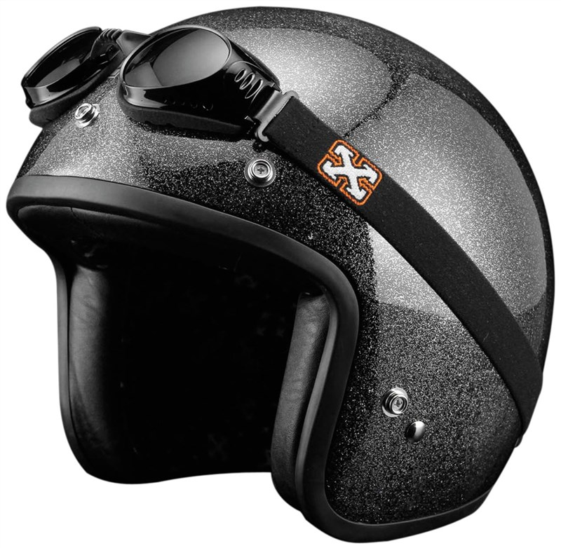 Motorcycle Helmets Open Face Sparx Pearl Open Face Helmet