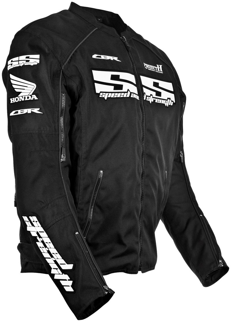 Honda Cbr 600 For Sale >> Speed And Strength Project H Honda Textile Motorcycle Jacket - Black