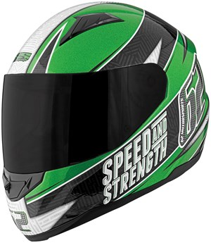 Speed & Strength SS1100 62 Motorsports Full Face Motorcycle Helmet  - Green / Black