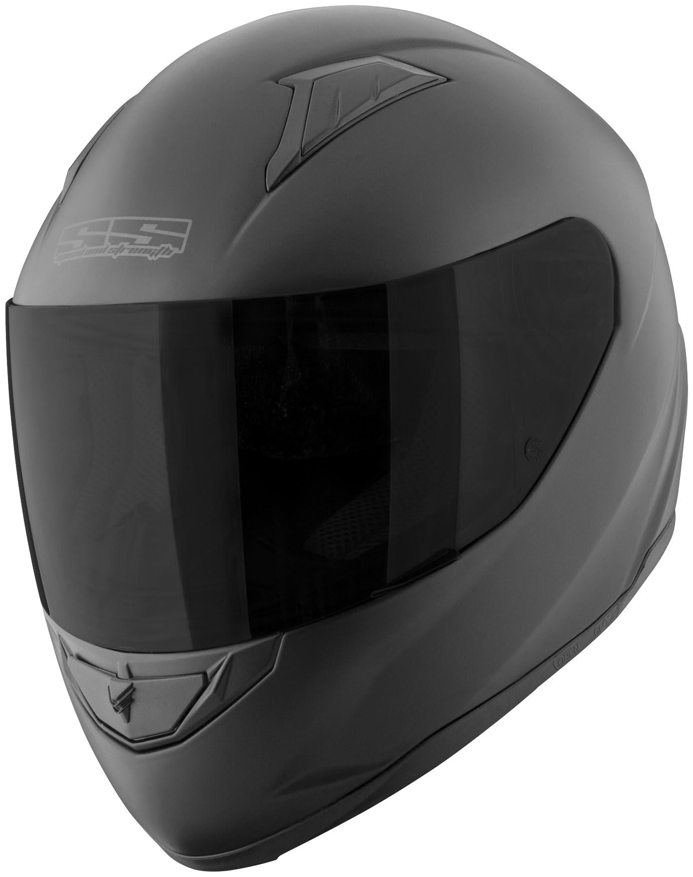 Motorcycle Helmets For Sale >> Speed & Strength SS1100 Full Face Motorcycle Helmet - Matte Black