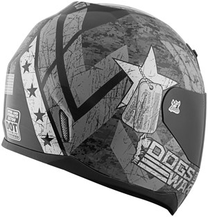 Speed & Strength SS700 Dogs of War Full Face Motorcycle Helmet - Matte Black