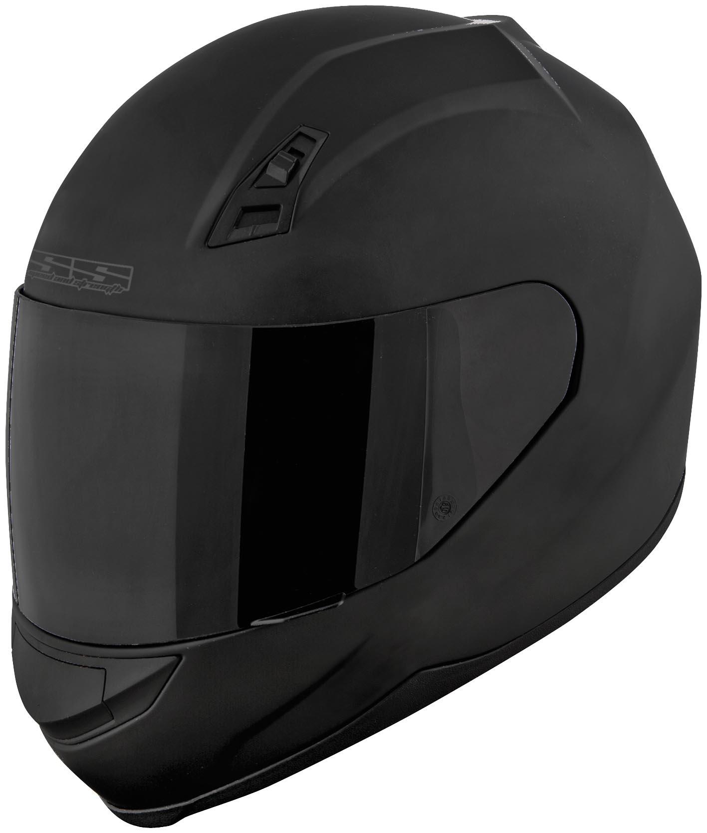 Matte Black Full Face Motorcycle Helmet Duke Dk 120m