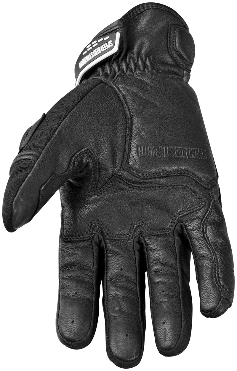 Black gloves with nails - Speed Strength Tough As Nails Motorcycle Gloves Black