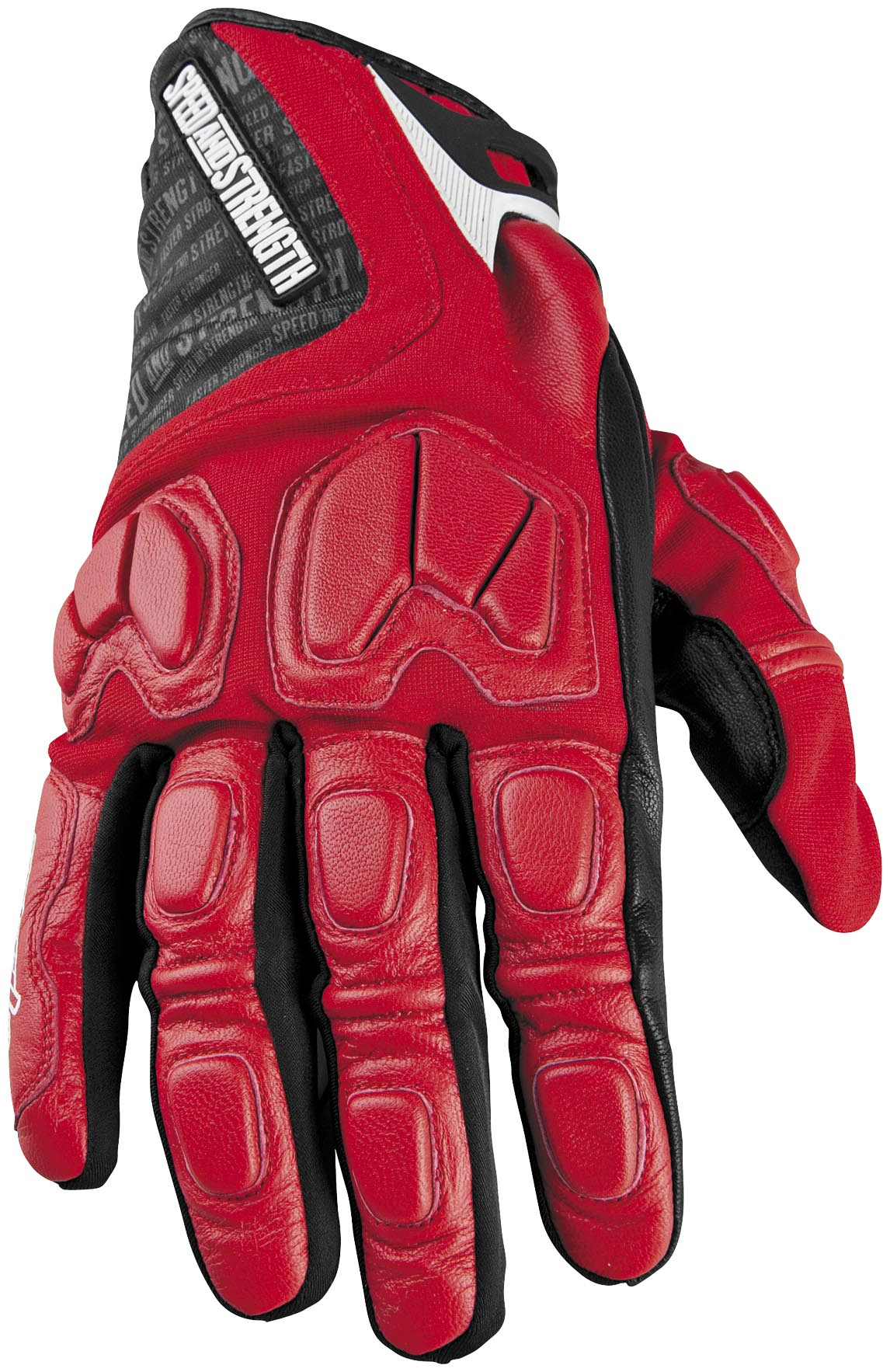 Speed Amp Strength Tough As Nails Motorcycle Gloves Red