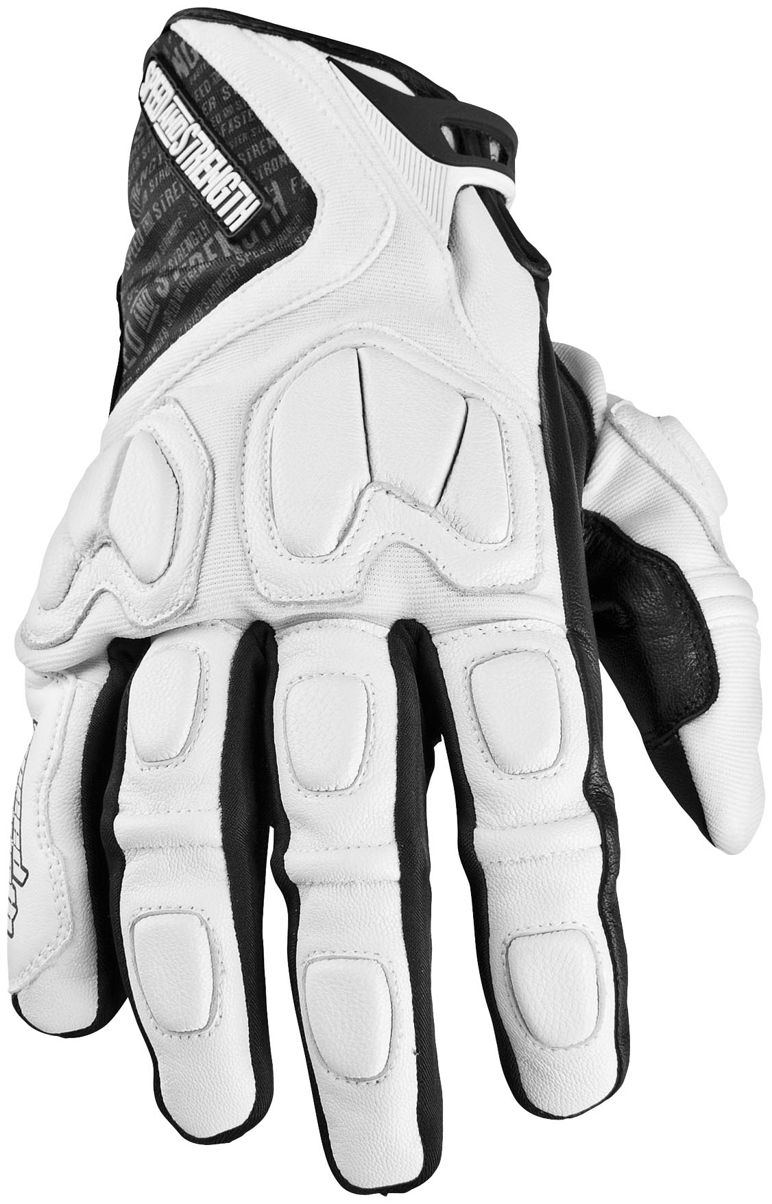 Speed Amp Strength Tough As Nails Motorcycle Gloves White