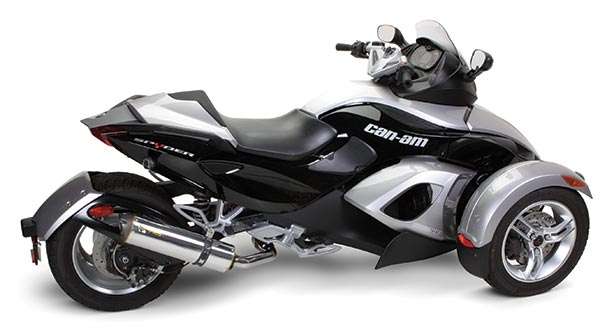 two brothers m 2 aluminum slip on exhaust can am spyder 990 08 11. Black Bedroom Furniture Sets. Home Design Ideas