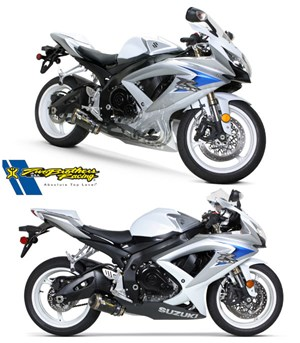 Two Brothers M-2 Carbon Fiber Full Exhaust - Suzuki GSX-R600 (08-10)