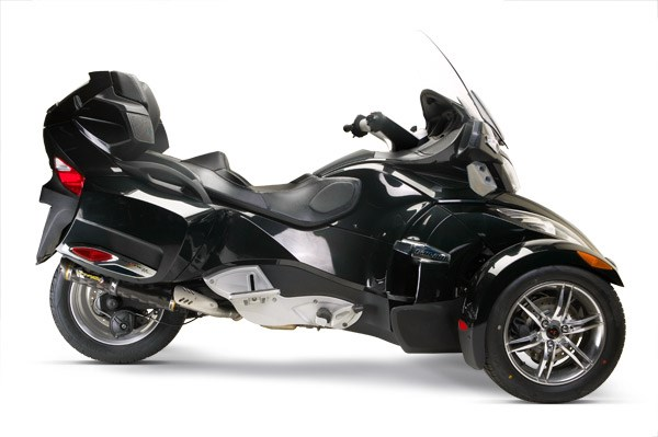 two brothers m 5 carbon fiber slip on exhaust can am spyder rt s 10 11. Black Bedroom Furniture Sets. Home Design Ideas