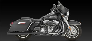 "Vance & Hines 4"" Blackout Round Slip-On Mufflers - Harley Davidson Touring Models (95-12)"