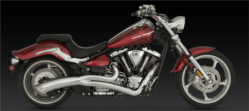 Vance & Hines Big Radius 2-into-1 Exhaust - Yamaha Raider 1900 (08-11)