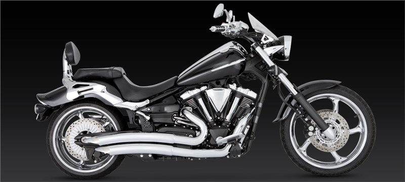 Vance & Hines Big Radius 2-into-2 Exhaust - Yamaha Raider 1900 (08-11)