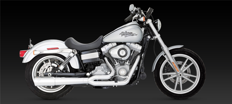 Vance Hines Pro Pipe Chrome Exhaust Harley Davidson Dyna Models 0611: Harley Davidson Chrome Exhaust Pipes At Woreks.co