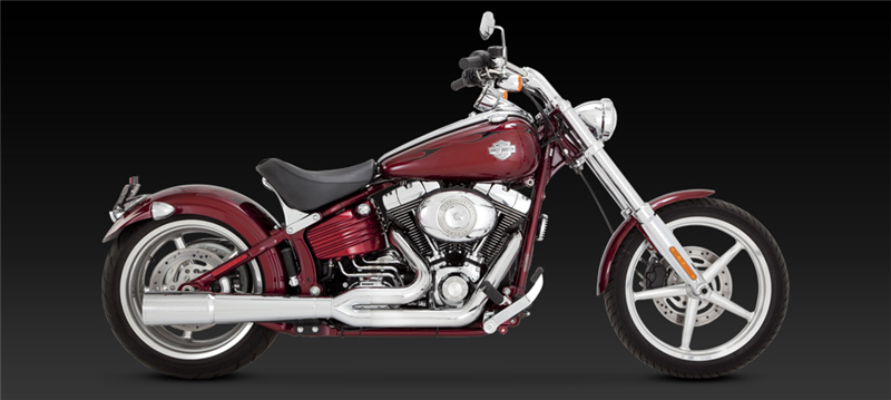 Vance Hines Pro Pipe Chrome Exhaust Harley Davidson Softail Rocker 0811: Harley Davidson Chrome Exhaust Pipes At Woreks.co