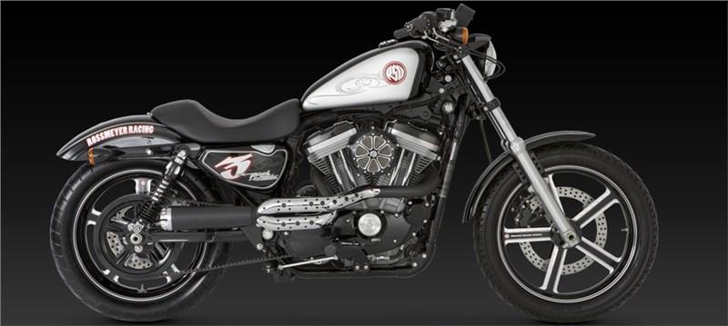 Vance Amp Hines Rsd Tracker 2 Into 1 Black Exhaust Harley