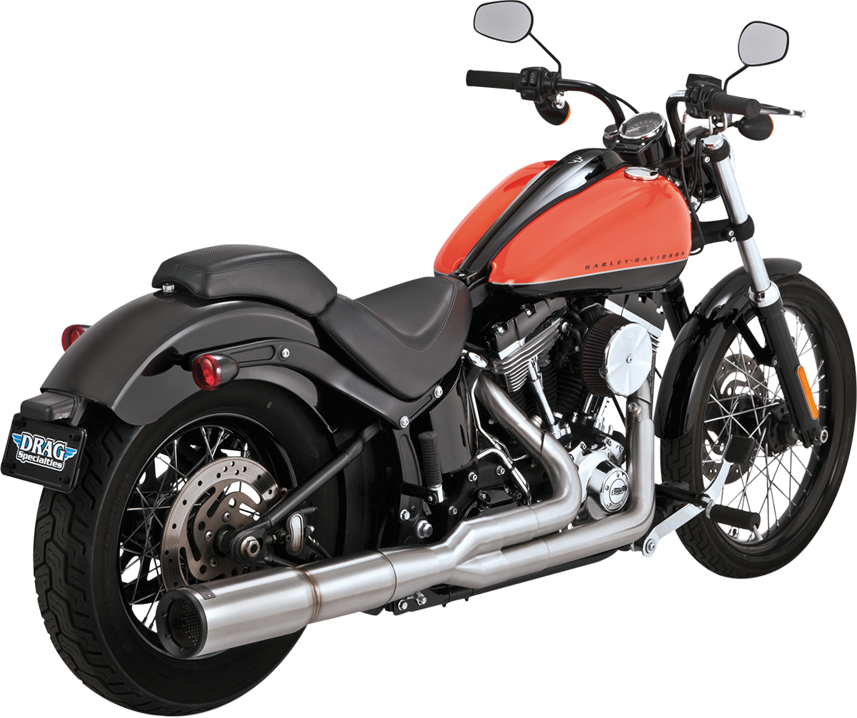 Vance & Hines Stainless Hi-Output 2-Into-1 Exhaust - Harley Davidson  Softail (86-13)