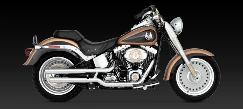 Vance /& Hines Chrome Straightshots Slip Ons Mufflers Harley 00-06  FXST// FLST