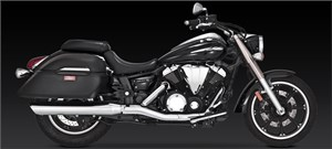 Vance & Hines Twin Slash Round Slip-on Muffler - Yamaha V-Star 950 (09-12)