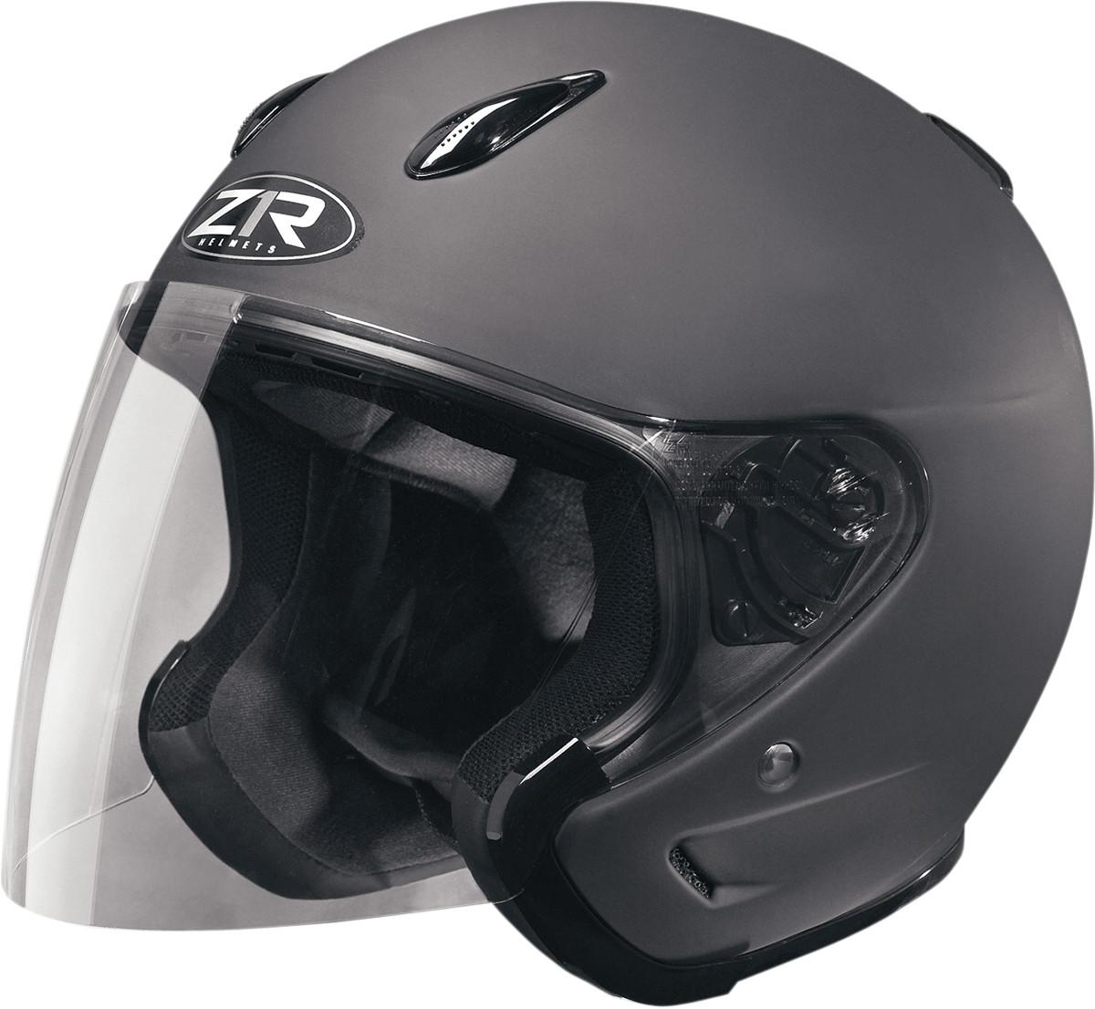 Z1r Ace Open Face Helmet Rubatone Black