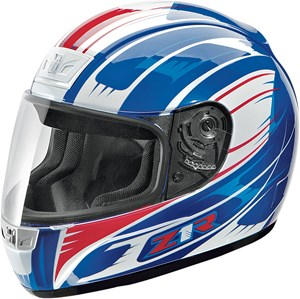 Z1R Phantom Avenger Full Face Helmet - Blue / Red