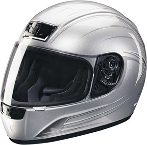 Z1R Phantom Warrior Full Face Helmet - Silver