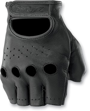 Z1R Ravage Fingerless Leather Motorcycle Gloves