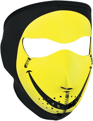 Zan Headgear Neoprene Full Face Mask - Smiley Face