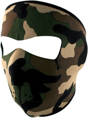 Zan Headgear Neoprene Full Face Mask - Woodland Camo