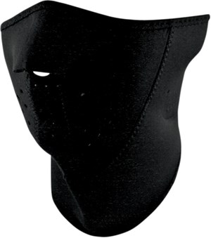 Zan Headgear 3 Panel Neoprene Half Face Mask - Black