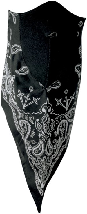 Zan Headgear Neodanna Face Mask - Black Paisley